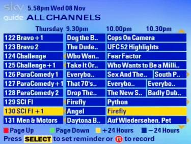 Sky Electronic Programme Guide